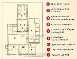 Главные сооружения монастыря Сурб-Хач. План.