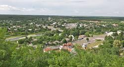 Панорама Чигирина із Замкової гори
