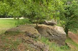 Чигирин. Скельні виходи у парку на Богдановій горі