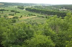 Чигирин. Краєвид долини Тясмина з Замкової гори.