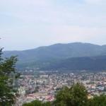 Панорама Хуста із Замкової гори