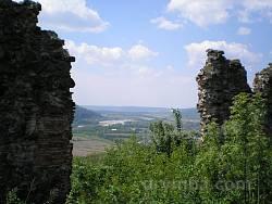 Вид із Хустського замку на долину Тиси