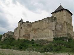 Хотинська фортеця. Вид з боку Дністра