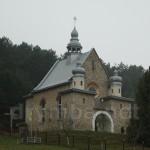 Туркотин. Вид на костел зі сторони руїн церкви