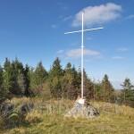 Пам'ятний хрест на місці бою УПА з німцями (гора Лопата, Сколівський р-н)