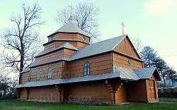 Корчин. Дерев'яна церква св. Кузьми і Дем'яна
