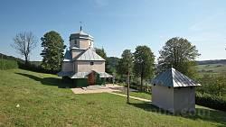 Ілів. Церква Воздвиження Чесного Хреста з дзвіницею