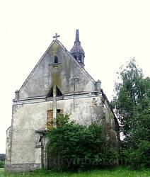 Село Чистопади. Польський костел міжвоєнного періоду