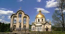 Церква Успення Пресвятої Богородиці з дзвіницею. Смт. Славське