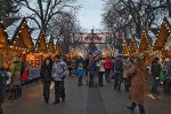 Рождественская ярмарка на проспекте Свободы