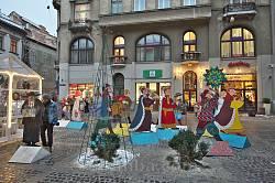 Персонажи вертепа на площади Яворского