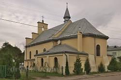 Миколаїв. Вівтарна частина костелу