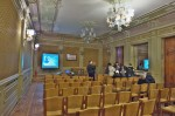 Палац Сапіг. Інтер'єр великої зали
