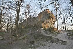Залишки муру на Замковій Горі у Львові