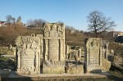 Раздол. Надгробия еврейского кладбища