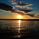 Захід сонця на Білому озері