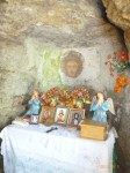 Монастирок. Образ Ісуса Христа з заплющеними очима
