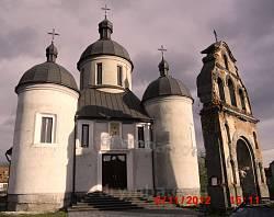 Греко-католицька церква святого Миколая в місті Городку Львівської області (церква збудована в 1655 році, дзвіниця  в 1510 році).