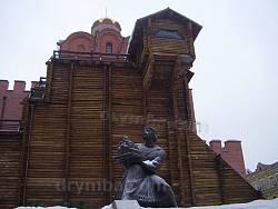 Золоті Ворота та пам'ятник Ярославу Мудрому