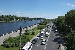 Дніпропетровськ. Вид на Мерефо-Херсонський міст та Монастирський острів