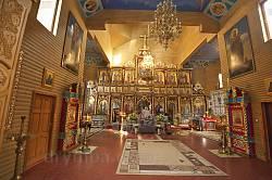 Манявский скит. Интерьер Кресто-Воздвиженского храма