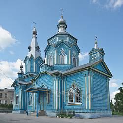Хрестовоздвиженська дерев'яна церква. Вівтарна частина