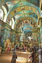 Богоявленський монастир у Кременеці. Інтер'єр собору