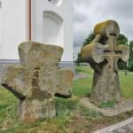 Козацькі хрести біля церкви у Суботові