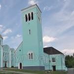 Успенський собор та дзвіниця. Вид від нижньої хвіртки