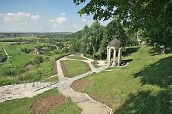 Оглядовий майданчик та краєвид на села Крилос і Залуква