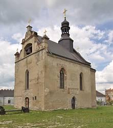Меджибіж. Бічний фасад замкового костелу
