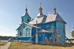 Піща. Дерев'яна церква Казанської Богородиці