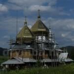 Церква Святого Михайла (Сможе, Сколівський район) 1874, дерев'яна. (під час оновлення)