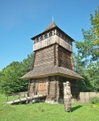 Дерев'яна оборонна вежа. Реконструкція