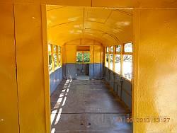 Внутри трамвайного вагона
