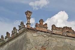 Меджибіж. Карниз замкового палацу Сенявських