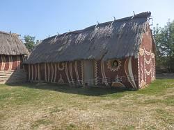 Макет трипольского дома в музее Легедзино