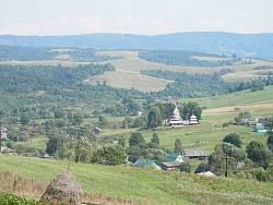 Панорама села Матків