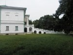 Сокиринці. Бокова стіна палацу з виглядом на центральний вхід