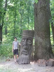 Куточок галаганівського парку. Дерев'яна скульптура