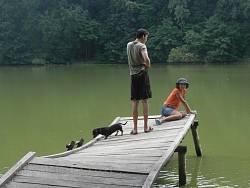 На березі ставка в парку Галагана