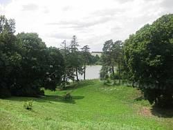 Качанівський парк. Спуск до ставка