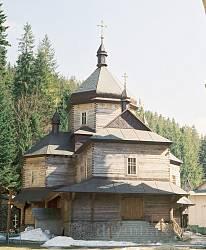 Скит Манявський. Відновлена Хрестовоздвиженська церква