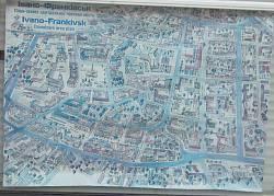 План-карта центральної частини Івано-Франківська