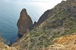Загострена скеля - крайня точка мису Фіолент