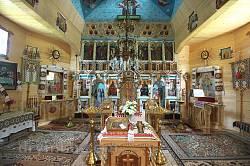 Вижниця. Інтер'єр храму св. Дмитрія