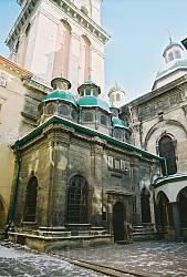 Руська церква у Львові. Каплиця Трьох Святителів