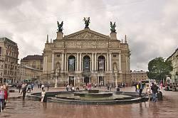 Фасад Львовской оперы