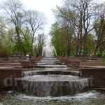 Житомир. Бульвар с фонтанами