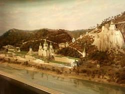Святогірська Успенська лавра (макет в музеї)